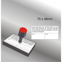 Rubber Stamp 75 x 38mm