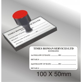 Rubber Stamp 100 x 50mm