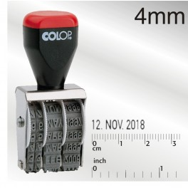 Colop Dater English Month - 4mm