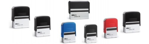 Plastic Self-Inking Stamps with Text